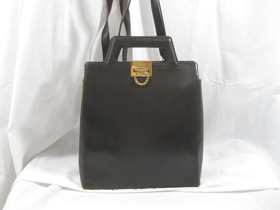 2c079cf5a2 Genuine vintage SALVATORE FERRAGAMO Gancini brown leather
