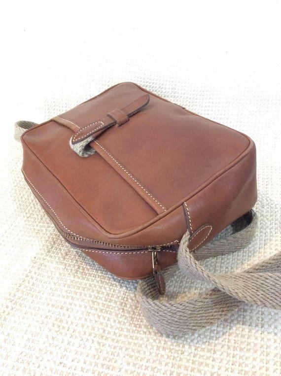 Vintage TRAFALGAR tan leather shoulder bag 90s - image 3