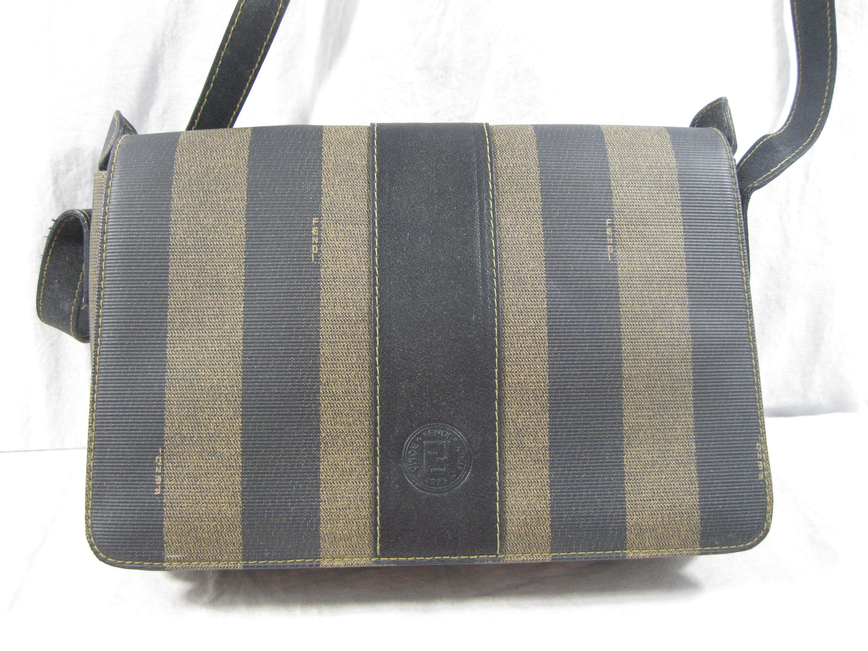 ebbc74fa10 Genuine vintage fendi black stripes saddle bag crossbody front etsy jpg  3000x2250 Fendi saddle bag