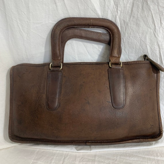 Genuine COACH Bonnie Cashin brown leather portfol… - image 2