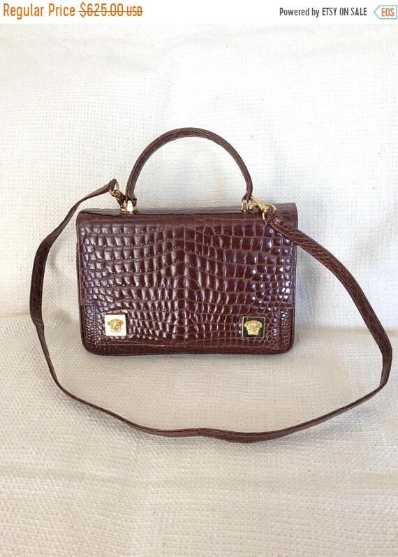 76e7a3bcb280 15% SUMMER SALE Vintage GIANNI Versace Couture Medusa croc