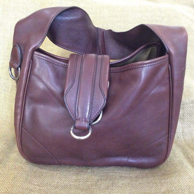 6ff3efaeac31 Vintage Polo RALPH LAUREN brown leather shoulder bag purse