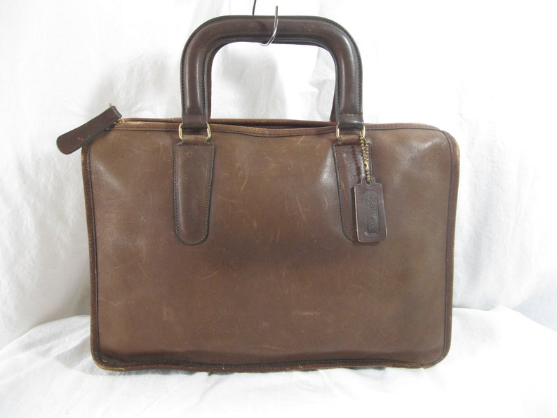 96b532324 Vintage COACH Bonnie Cashin brown leather briefcase brief 70s | Etsy