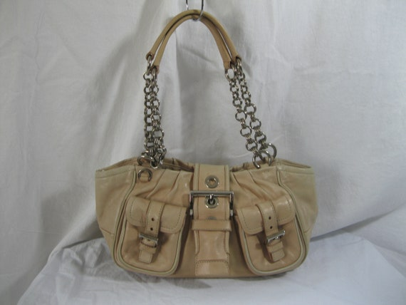 d09978a064d3 Genuine vintage Prada beige pleated leather chain link   Etsy