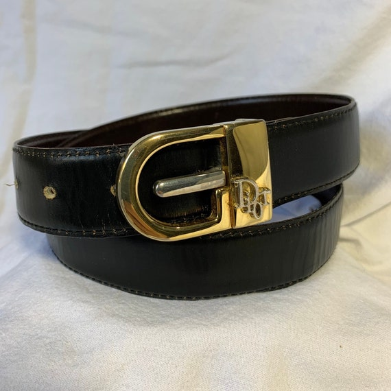 Genuine vintage CHRISTIAN DIOR reversible black br