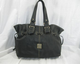 Vintage DOONEY & BOURKE black leather tote shopper bag AWL