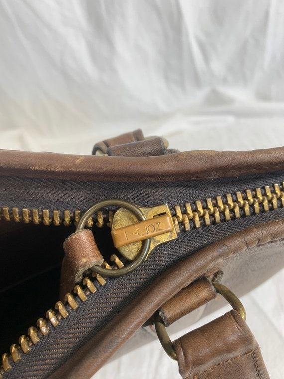 Genuine COACH Bonnie Cashin brown leather portfol… - image 9
