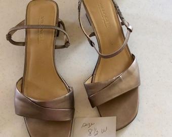 23094c1017 Women's Bronze High Heel Casual Pumps by Villager, a Liz Claiborne Company,  Size 8-1/2W