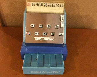 Vintage Mini Tin Toy Cash Register