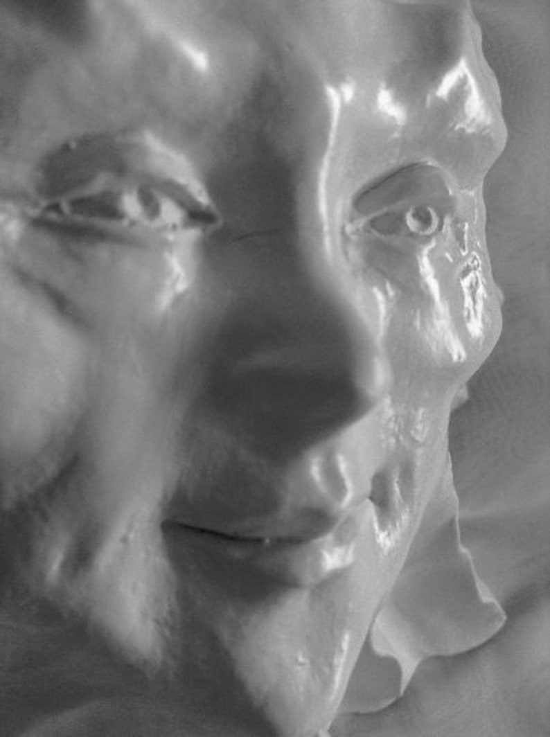 8 Handmade Sun Face Wall Sculpture Ready to Hang