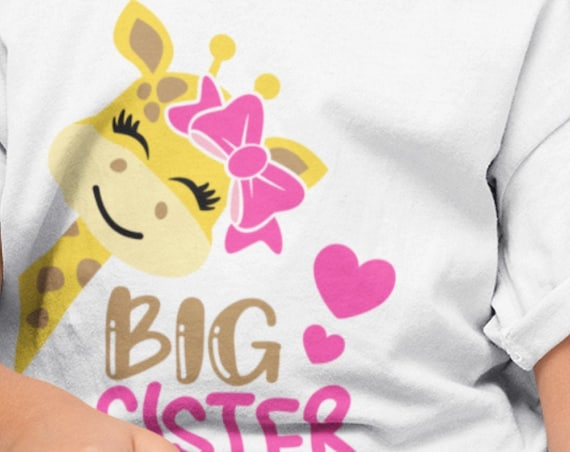 Big Sister/Little Sister Giraffe T-Shirts/Onesie, FAST SHIPPING!