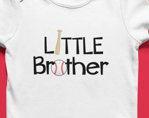 Little Brother Baseball Onesie, FAST SHIPPING