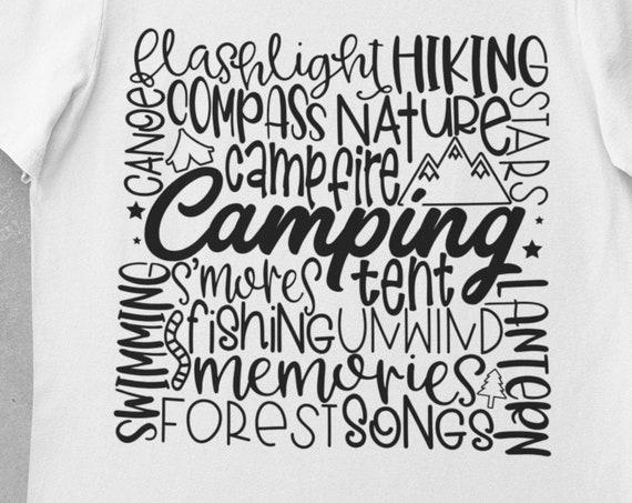 Camping T-Shirt, FAST SHIPPING!