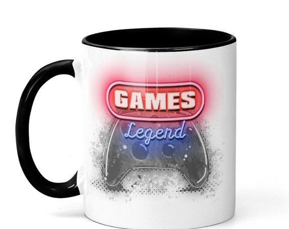 Great Gift for Gamers! Neon Game Legend 11 oz Coffee Mug, FAST SHIPPING!