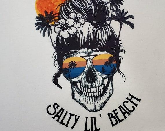 Salty Lil' Beach SKULL T-Shirt