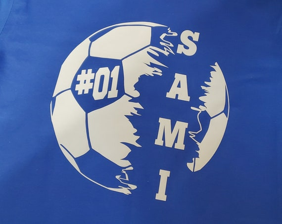 Soccer t-shirt, Soccer Gifts, Soccer Ball T-Shirt with Name