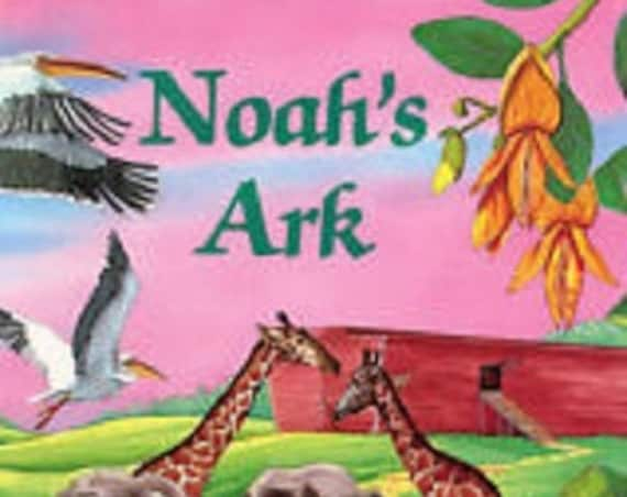 CLEARANCE! NOAH'S ARK Personalized Book, Fast Shipping!