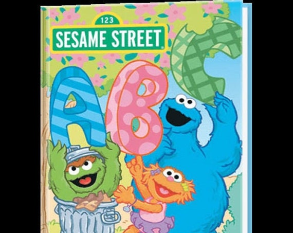 Clearance!  SESAME STREET ABC and Me Personalized Book, Fast Shipping!