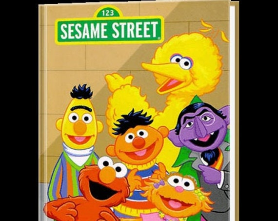 Clearance!  My Day On SESAME STREET  Personalized Book, Fast Shipping!