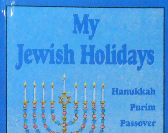 Clearance!  MY JEWISH HOLIDAYS Personalized Book, Fast Shipping!