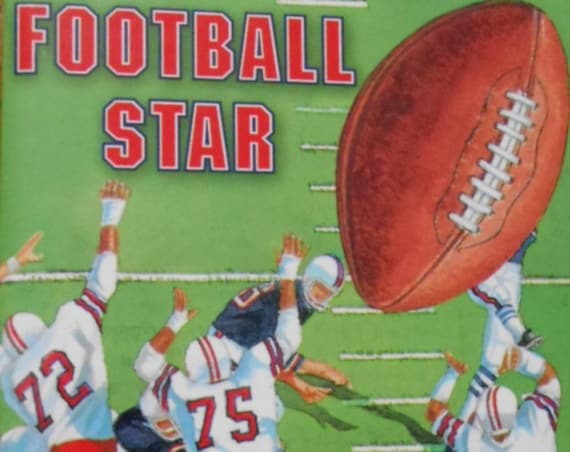 CLEARANCE!  FOOTBALL STAR Personalized Book, Includes favorite team, player, more! Fast Shipping!