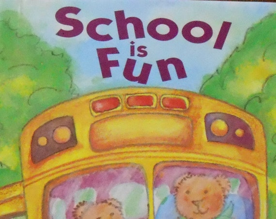 Clearance! SCHOOL IS FUN Personalized Book, includes teacher's name, name of school, more! Fast Shipping!