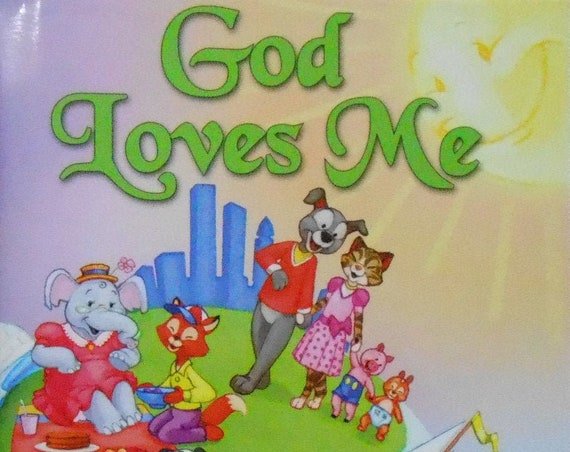 Clearance!  GOD LOVES ME Personalized Prayer Book, Fast Shipping!