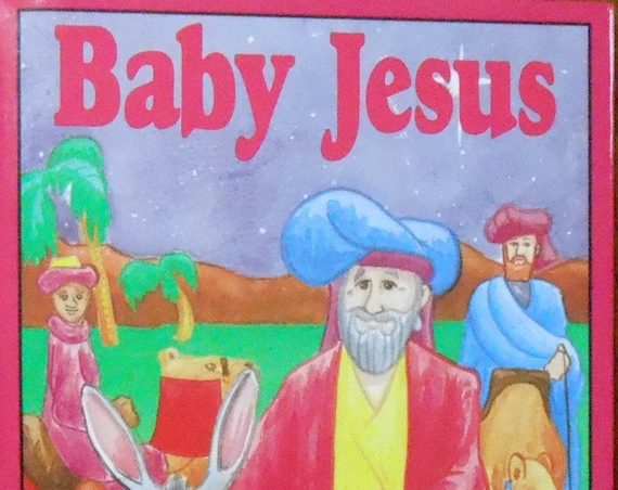 CLEARANCE! BABY JESUS Personalized Christmas Story, Fast Shipping!