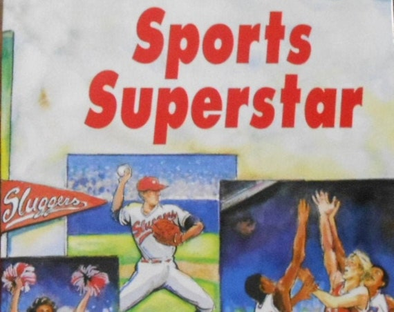 CLEARANCE! SPORTS SUPERSTAR Personalized Book, Fast Shipping!