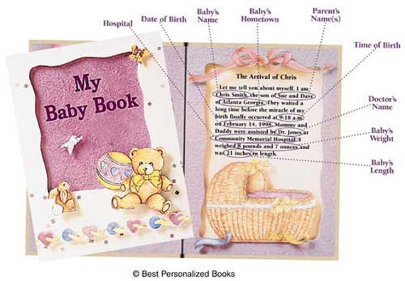 Clearance! MY BABY BOOK Personalized Book, Fast Shipping!