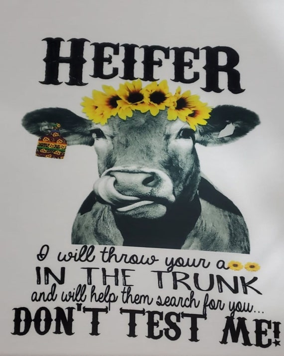 Heifer, I will Throw You in the Trunk and Help Them Search for You! Don't Test Me! T-Shirt