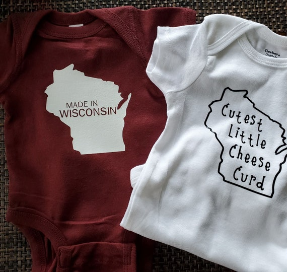 """Made in Wisconsin"""" or """"Cutest Little Cheese Curd""""  FAST SHIPPING!"""