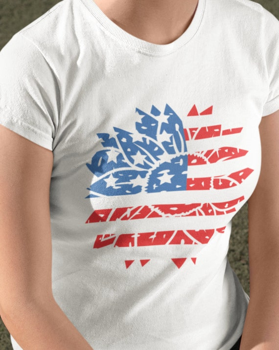 Flag/Sunflower T-Shirt, Toddler/Youth/Adult, FAST SHIPPING!