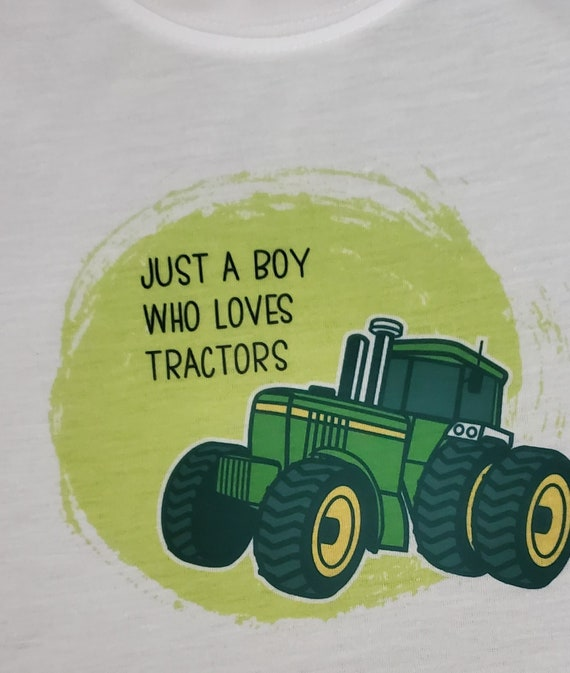 Just a Boy Who Loves Tractors T-Shirt, FAST SHIPPING!