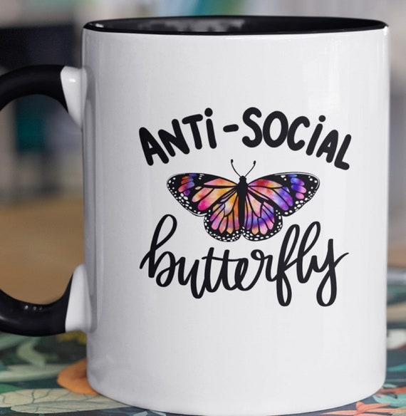 Anti-Social Butterfly 11 oz Coffee Mug
