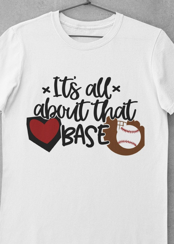 Fun Baseball T-Shirt, It's All About The Base, FAST SHIPPING!