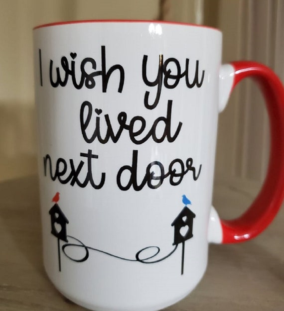 Great Gift for Long Distance Friends, Relatives, Students, Large 15 oz Coffee Mug Various Colors