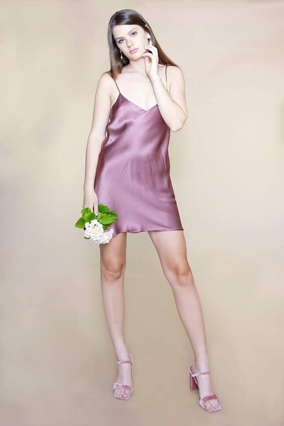 PURE SILK MINI Slip Dress Beautiful Dazzling Silk Slip Dress  c9e6cedb0