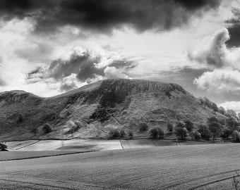 Black and White print of Benarty Hill, Fife. Fine art photographic print showcasing Scottish Nature Photography