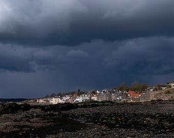 Stormy Lower Largo. Fine art photographic print showcasing Scottish Nature Photography