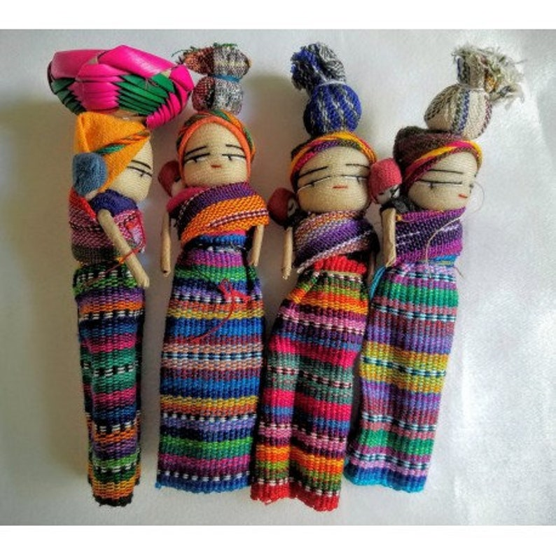 Worry Doll Mother with Child and carrying image 0