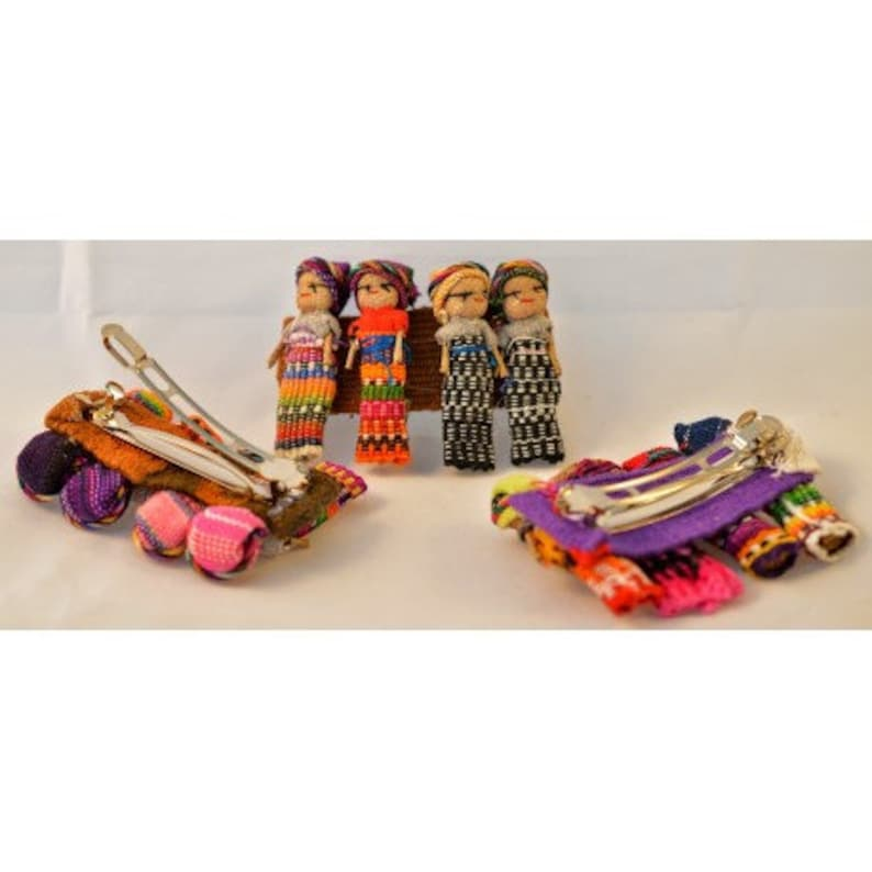 Med 2in Worry Doll Hair Barrette image 0