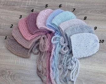 ON SALE! Newborn, Knit hat, Newborn hat, Hat, Photo prop, Knit Bonnet, Dainty hat, RTS