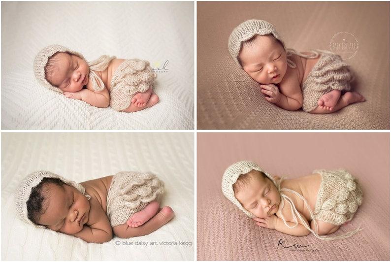 9419e26c5 Newborn set Knit newborn set Knit hat Knit shorts Photo | Etsy