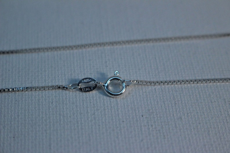 1.2 mm Wide 24 in Length 925 Stamped Italian Sterling Silver Box Chain and Spring Clasp
