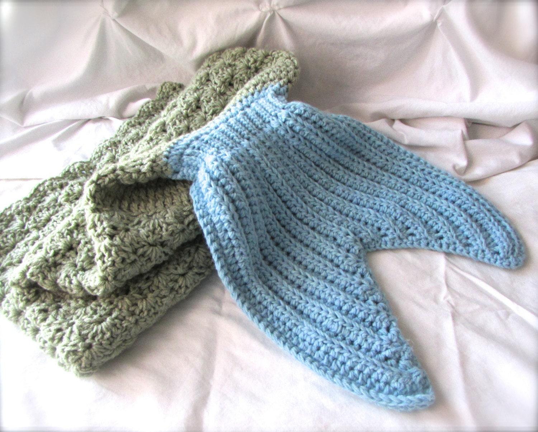Kids Mermaid Tail Blanket Mermaid Tail Fin Blanket Mermaid Etsy