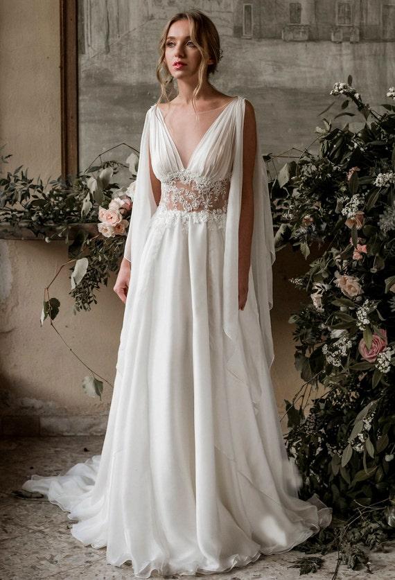 Etsy vestito greca Abito sposa sposa abito sposa seta dea da qRSIwnSz