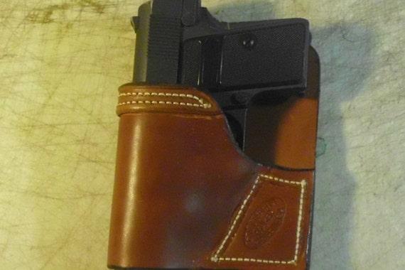Conceal carry leather pocket holster/ Back pocket holster/ Purse Holster