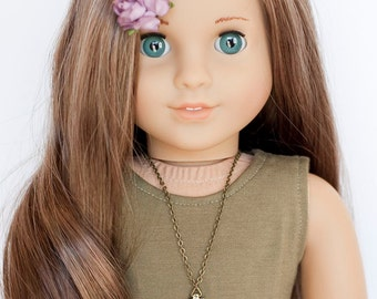 American Girl doll triangle necklace
