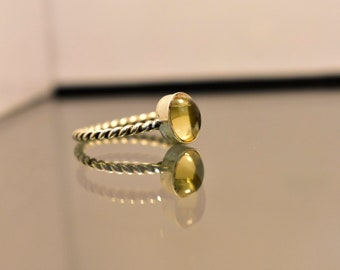 925 sterling siver ring with citrine